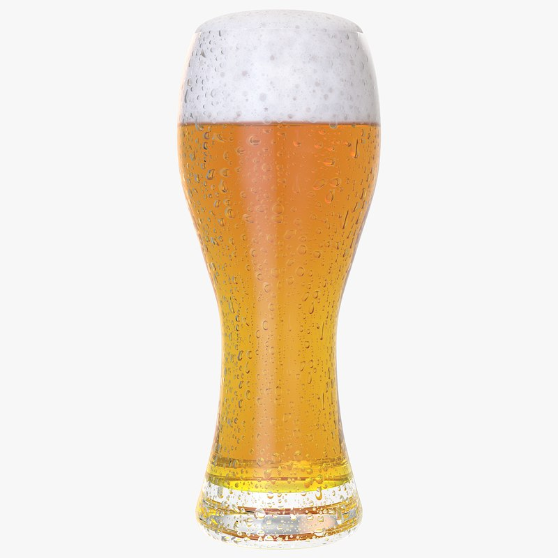 3D realistic beer glass