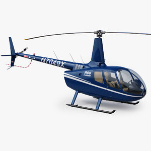 helicopter robinson r66 turbine 3D
