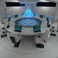 Sci fi meeting room