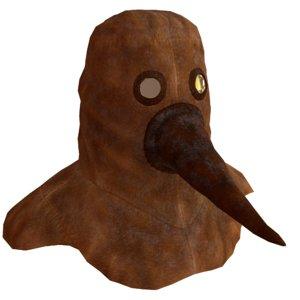 historical plague mask model