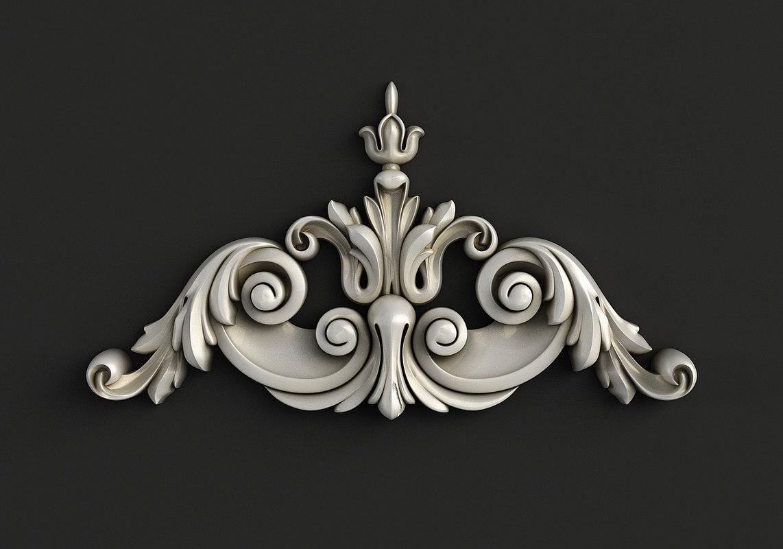 carved cnc model