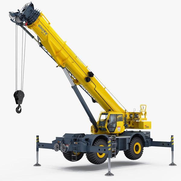 manitowoc grt8100 rough terrain 3D model