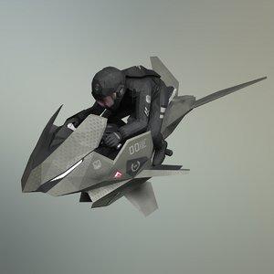 3D concept v-1 jet bike