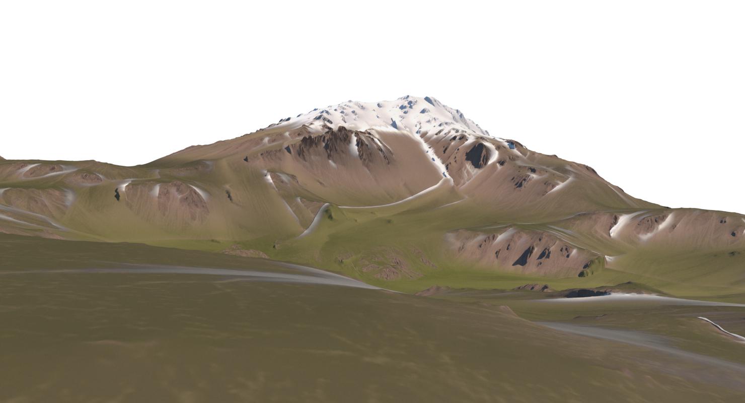 mountain snow 001 - 3D