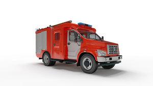 3D model gaz engine