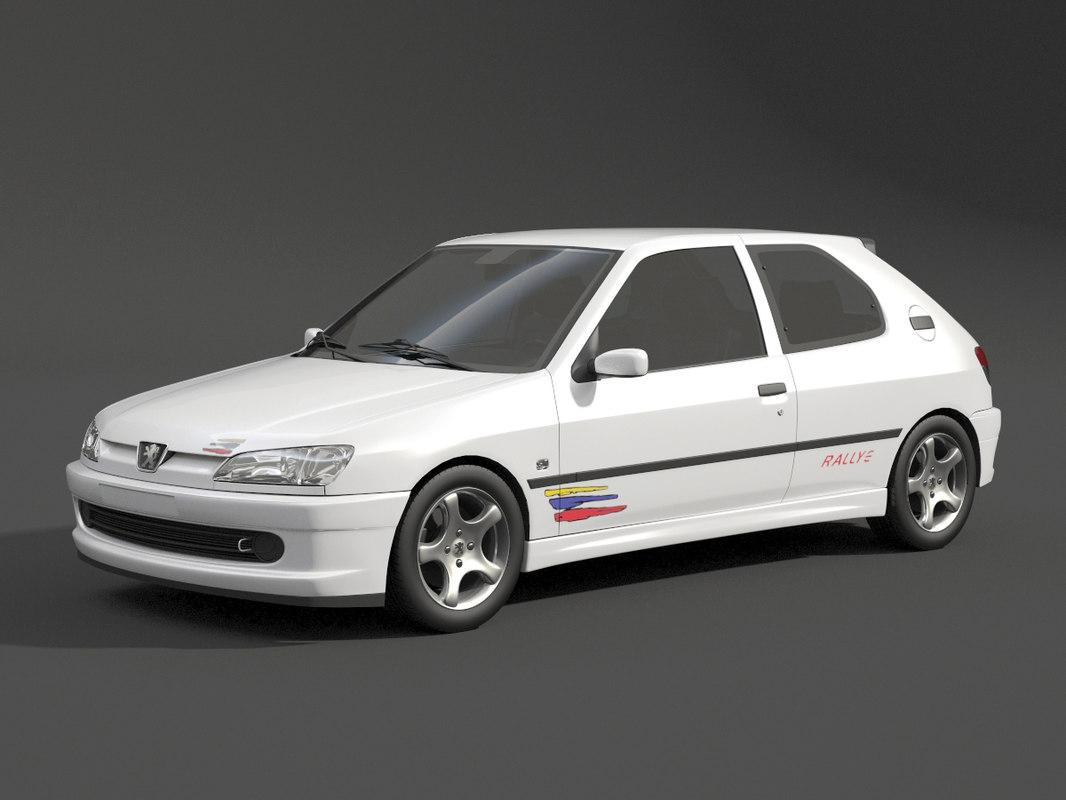 peugeot 306 rally 3d model turbosquid 1331863. Black Bedroom Furniture Sets. Home Design Ideas