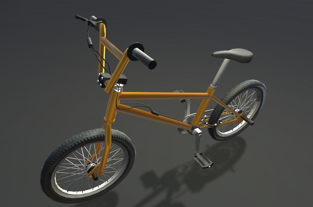 3D realistic bicycle pbr model