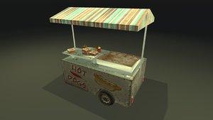 realistic food cart pbr 3D model