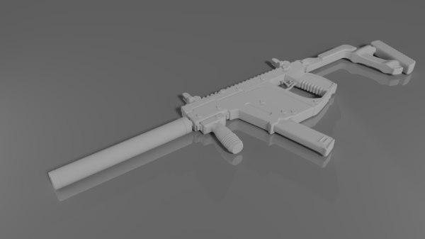 3D model vector smg