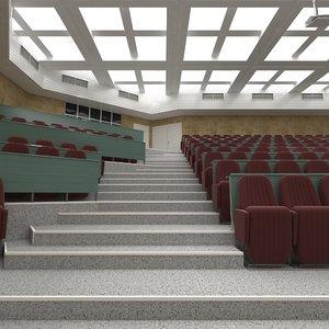 lecture room auditorium 3D