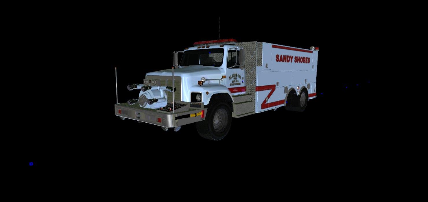 3d Modeled International Tender/Tanker Truck 3d Model (GTA V)