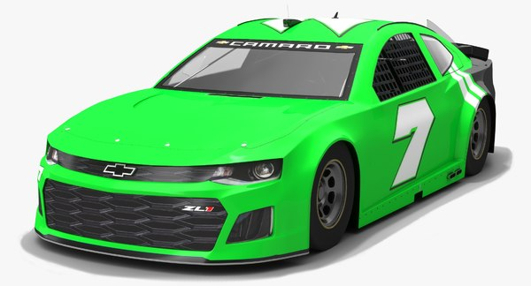 nascar chevrolet camaro race car 3D model