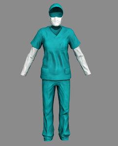 surgeon dress 3D