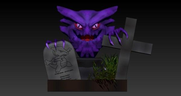 haunter realistic pokemon 3D