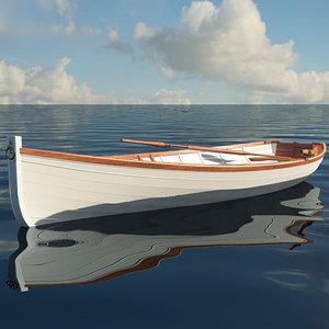 3D rowing boat model