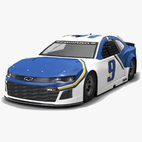 3D nascar race car hendrick