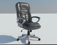 3D model staples giuseppe black office chair