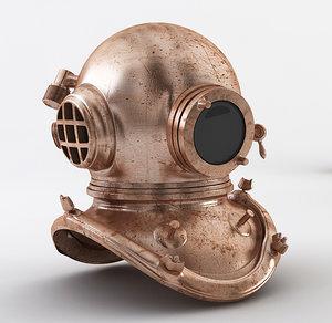 diving helmet 3D model
