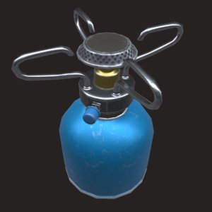 tourist gas burner 3D model