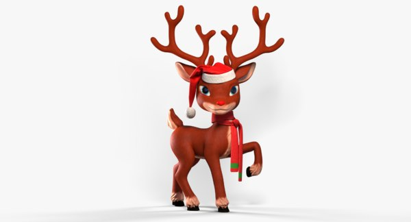 cartoon reindeer christmas animation rig 3d model turbosquid 1358667 christmas reindeer rigged character