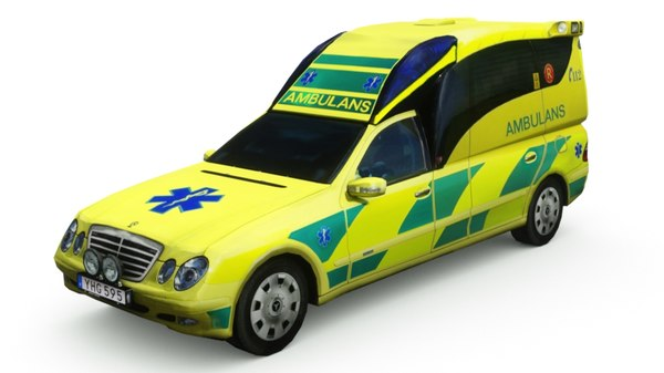 mercedes swedish ambulance 3D model