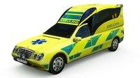 mercedes swedish ambulance 3D model