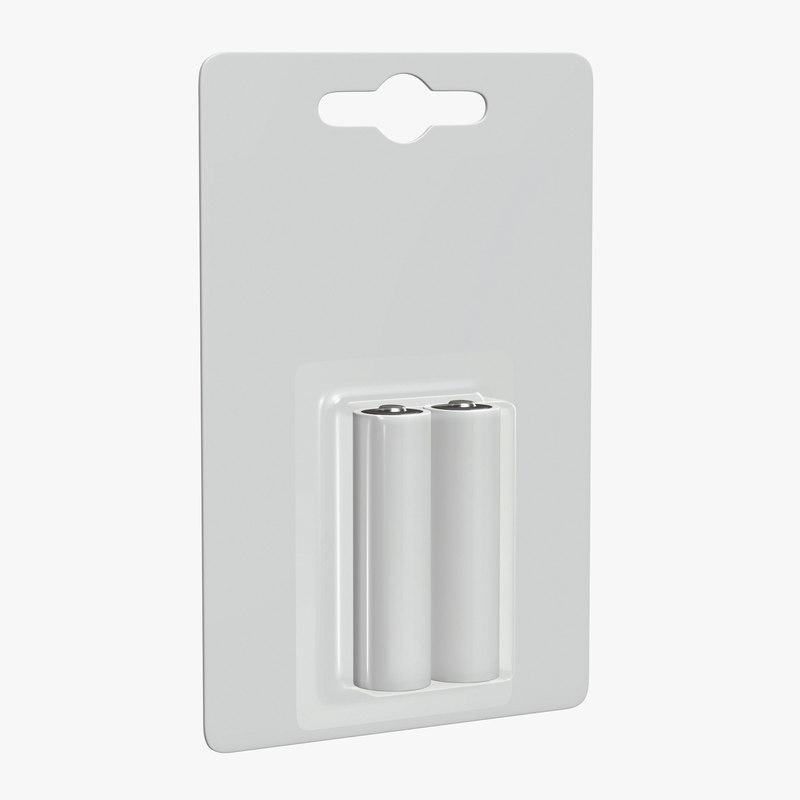3D battery package pack model
