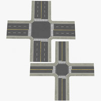 3D lane streets intersections model