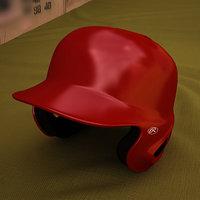 batting helmet baseball 3D model