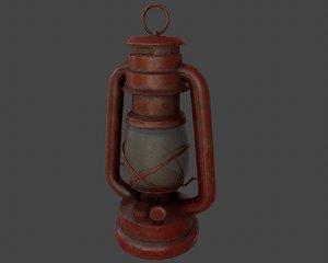 3D model kerosene lamp