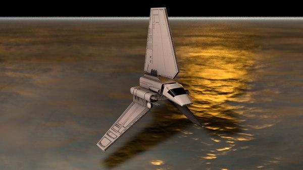 imperial shuttle spacecraft 3D model