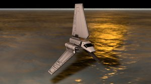 imperial shuttle spacecraft 3D model