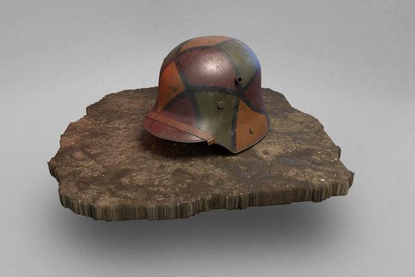 german helmet stahlhelm m1916 3D model