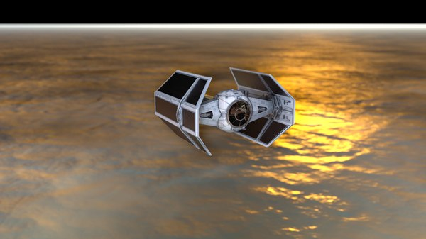 3D t fighter advanded spacecraft model