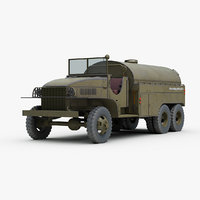 ww2 gmc 353 airfield 3d max
