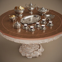 Silver service set (9 effectivepoly items)