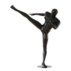 abstract male mannequin fighter 3D model