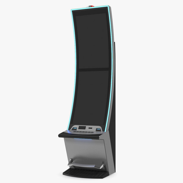 casino slot machine screen 3D