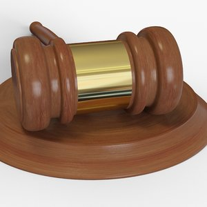 gavel block 3D model