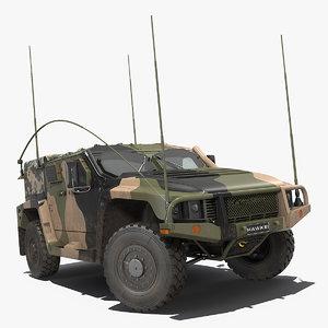 3D hawkei pmv 4x4 mobility model