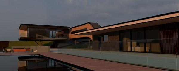 modern vacation house 3D model