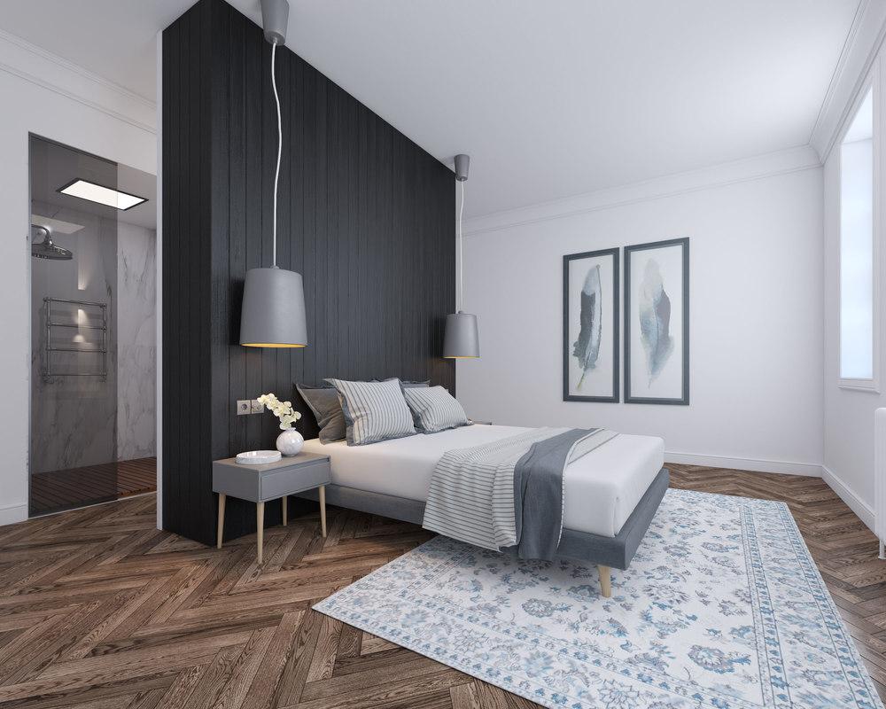 V Ray Realistic Bedroom Interior
