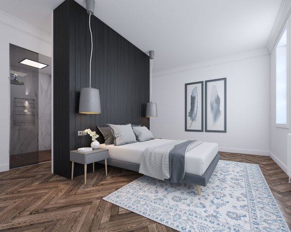 3D v-ray realistic bedroom interior