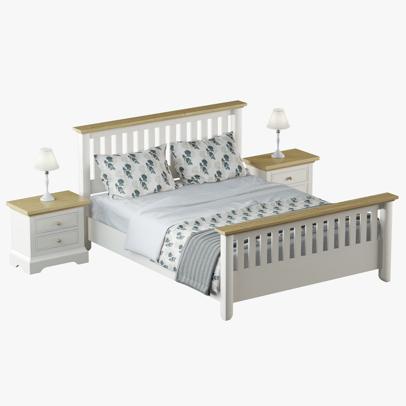 laura oakham bedroom furniture 3D model