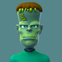 Cartoon Monster Frankenstein