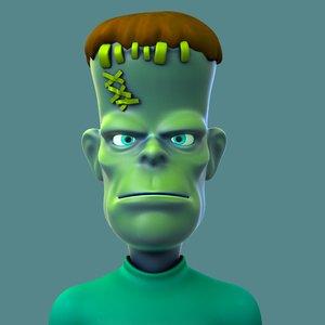 cartoon monster frankenstein 3D model