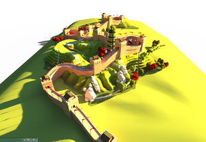 3D great wall model