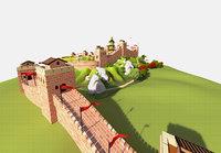 3D great wall model