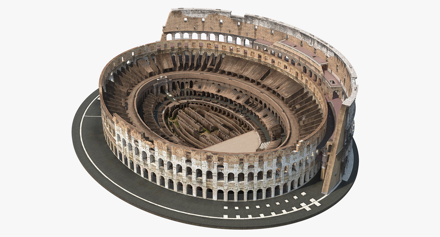 colosseum amphitheater ancient 3D