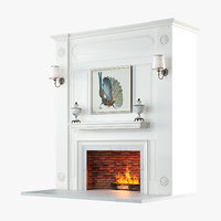 3D fireplace design v2 model